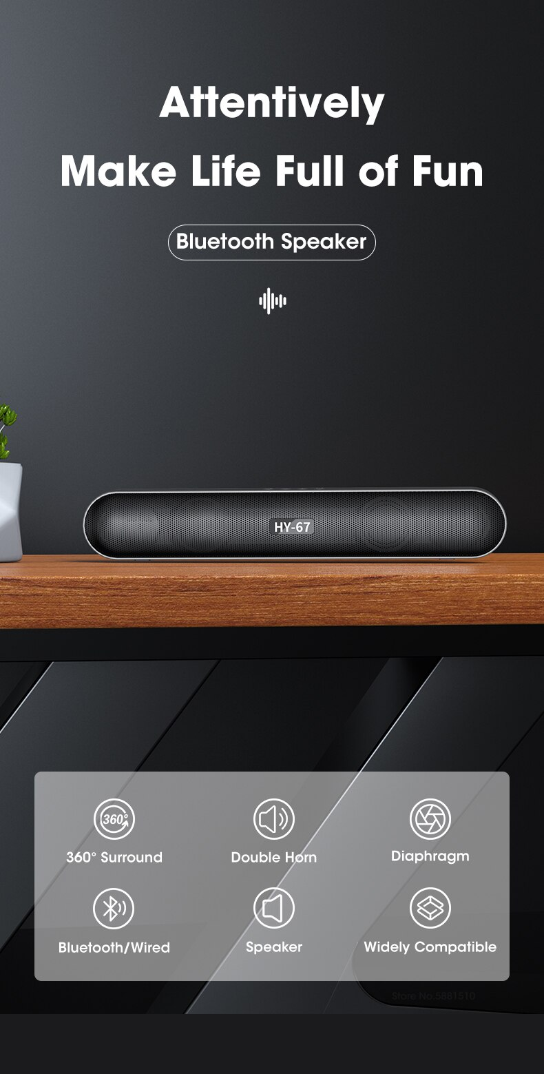 H93933ca25170411c97aed6170292a33eP - Computer Soundbar Desktop Bluetooth Speakers Rechargeable 6D Deep Bass Stereo Subwoofer AUX Wired For Laptop PC TV Loudspeaker