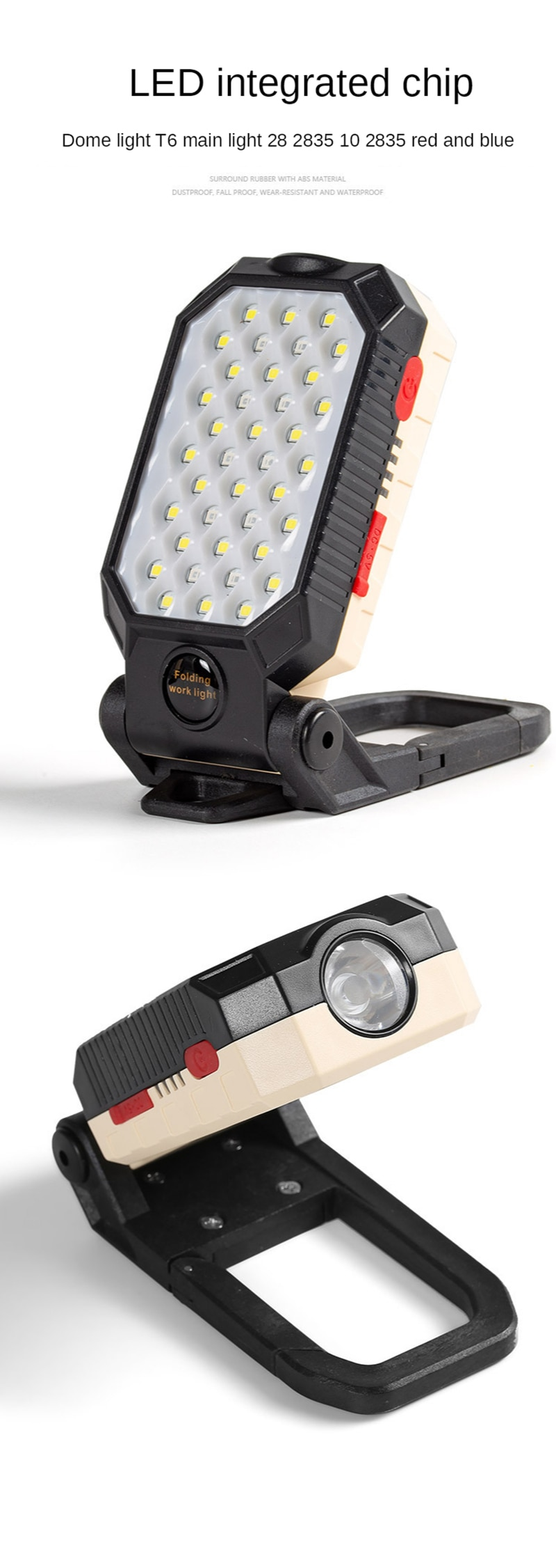 H95ef3acc3b484fc19781b24dc3f7884fH - ZHIYU LED COB Rechargeable Magnetic Work Light Portable Flashlight Waterproof Camping Lantern Magnet Design with Power Display