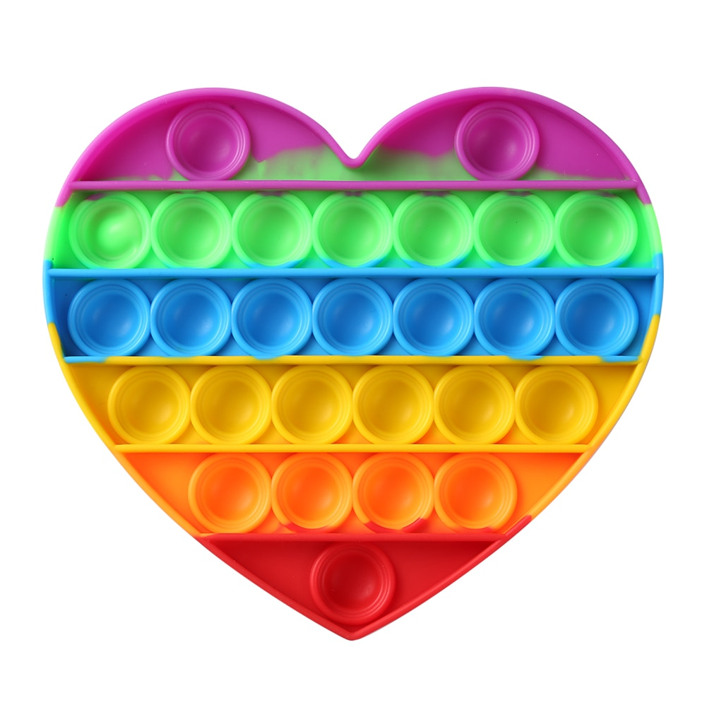 H96b574640ca14140a0a4039d0d3083c3B - Rainbow Fidget Toys Push Bubble Sensory For Autism Needs Anti-stress Game Stress Relief Squishy