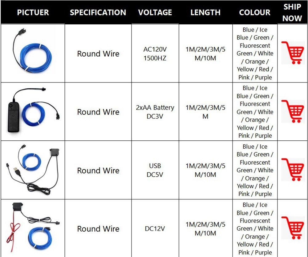 H97b63922cb834eb09fda855dd1e4b6a9e - 1M/2M/3M/5M/10M Neon Light Dance Party Decor Light Neon LED lamp Flexible EL Wire Rope Tube Waterproof LED Strip