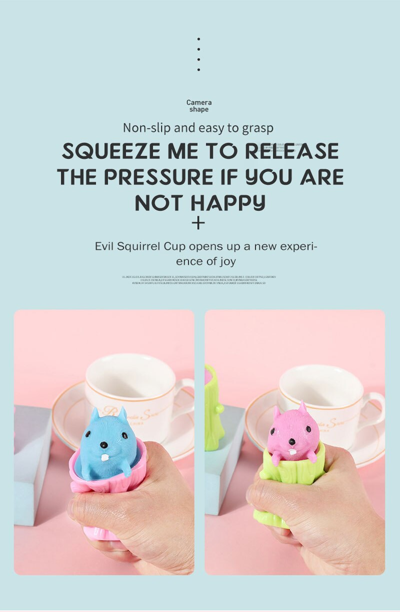 H9bc54e88516c4601857ce88f02146867W - Cute Cartoon Squirrel Squeeze Anti-Stress Toys For Boy & Girls Fidget Toys Adult Stress Relief Decompression Toy Gift