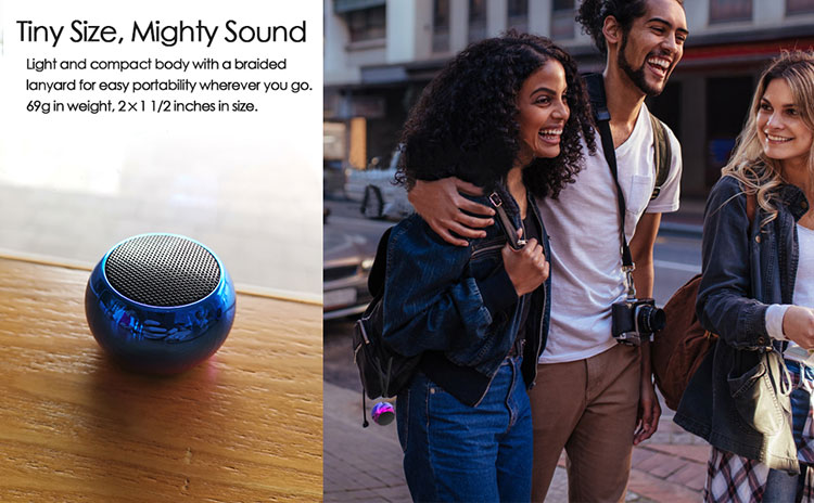 H9f665679e6f749c08622e2326a633686D - TWS Bluetooth Speaker 5.0 Dosmix Wireless Pocket Stereo Speakers with 5W Big Sound 2-Hr Playtime,Android iOS Speakers for iPhone