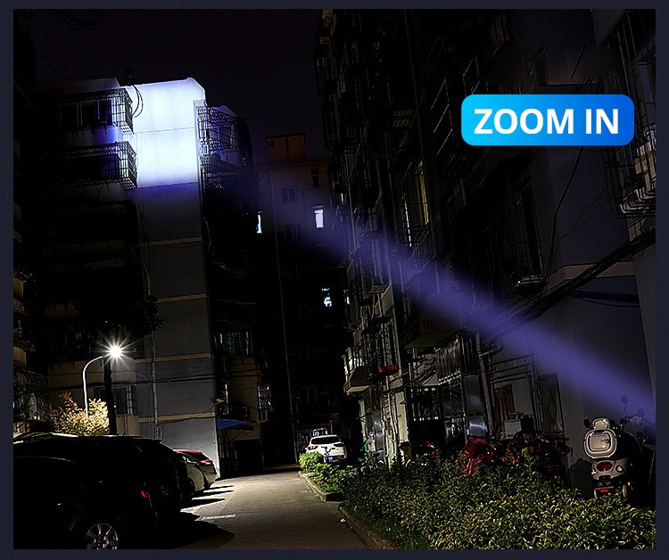 HTB1BVSvXYys3KVjSZFnq6xFzpXaP - Ultra Bright LED Flashlight With XP-L V6 LED lamp beads Waterproof Torch Zoomable 4 lighting modes Multi-function USB charging