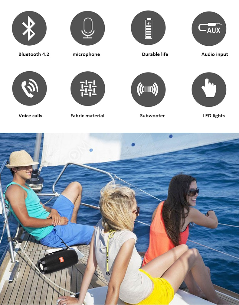 HTB1NW3BK9zqK1RjSZPxq6A4tVXao - Wireless Speaker Bluetooth-compatible Speaker Microlab Portable Speaker Powerful High Outdoor Bass TF FM Radio with LED Light