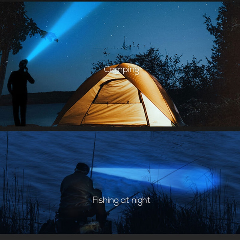 Ha1425acf5a334ec2ad68d5621197da28T - Drop Shipping 5LED With Built-in 18650 Battery USB Rechargeable Portable Flashlight Lantern Headlamp Outdoor Camping Headlight