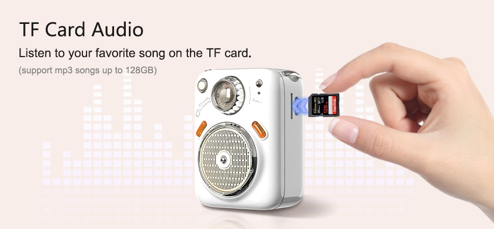 Ha17acf2d866c424cae71a591dcdfba4e2 - Divoom Beetles Mini Bluetooth Speaker with FM Radio,Cute Portable Outdoor Wireless Speaker ,Long Battery Life Support TF Card