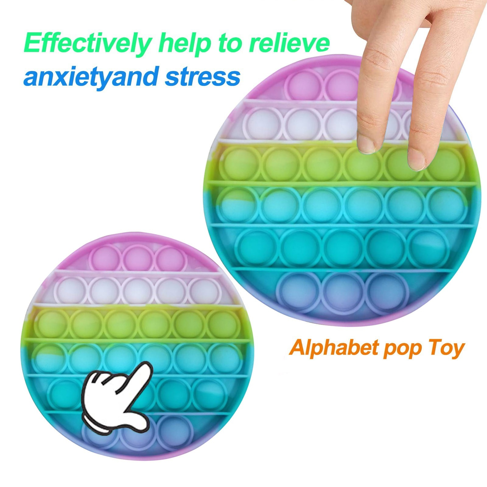 Ha2d83c8e5f314ce192dad4f219d0ff2fy - Push Bubble Pop Fidget Reliver Stress Toy Rainbow Antistress Toys Adults Children Sensory Toys to Relieve Autism Free Shipping