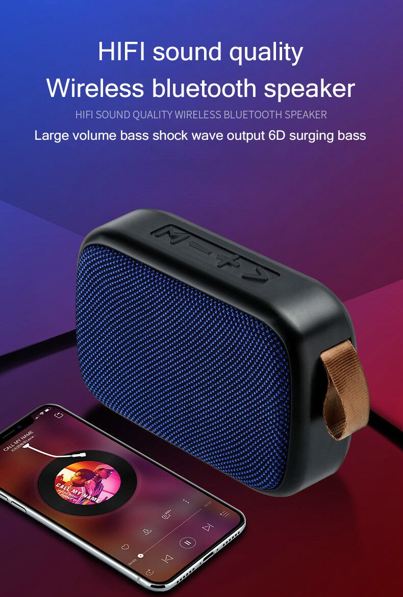 Ha448078debcb4bc093ba557857cfc6a2K - B02 Wireless Bluetooth Speaker Mini Subwoofer Support TF Card Small Radio Player Outdoor Portable Sports Audio Support 16GB
