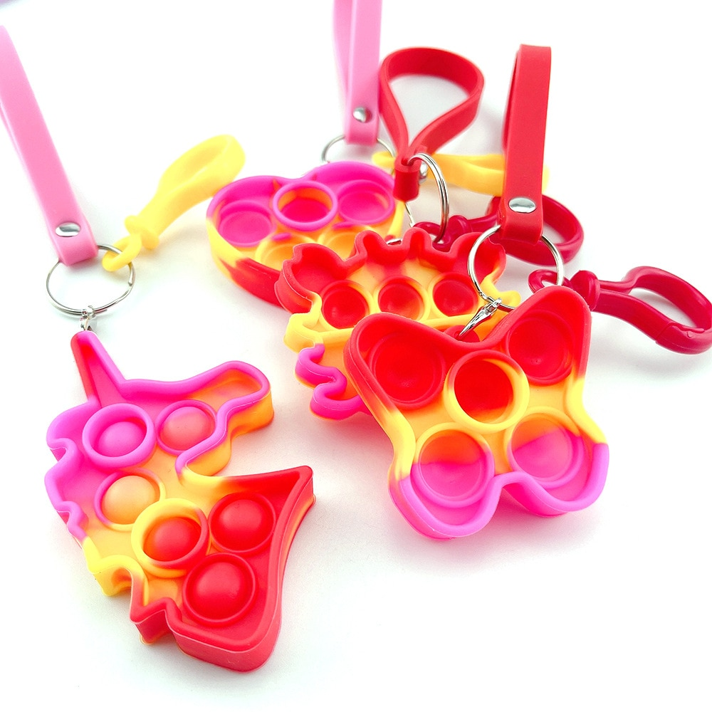 Ha7ea7cd44fc5436381b4f3540ea09ca5Z - Push Bubble Simple Dimple Sensory Toy Keychain For Children Adults Anti Stress Reliever Fidget Toys Kids Decompression Gift