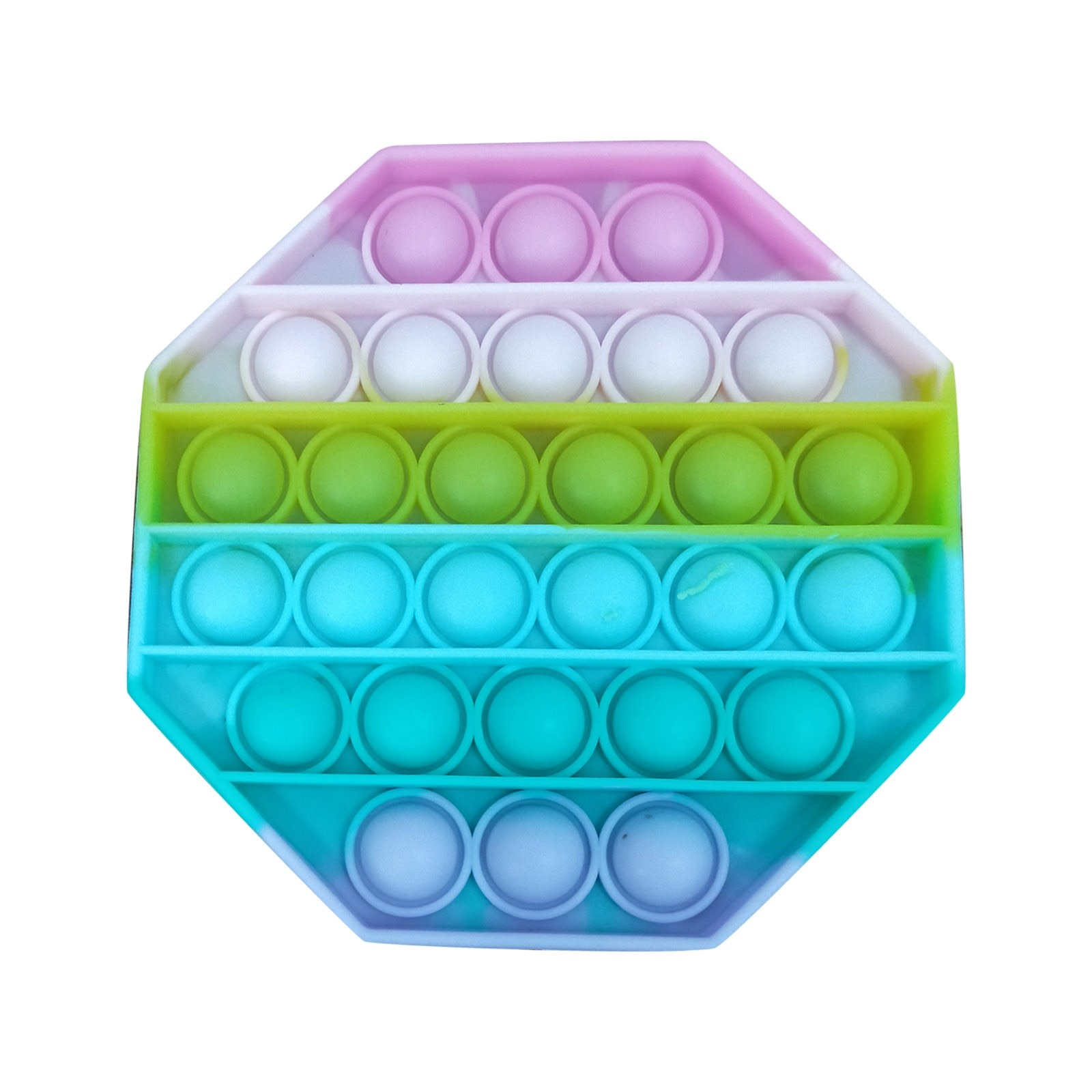 Hac4f0b0d3c9a49cd9940d321632ccc27L - Push Bubble Pop Fidget Reliver Stress Toy Rainbow Antistress Toys Adults Children Sensory Toys to Relieve Autism Free Shipping