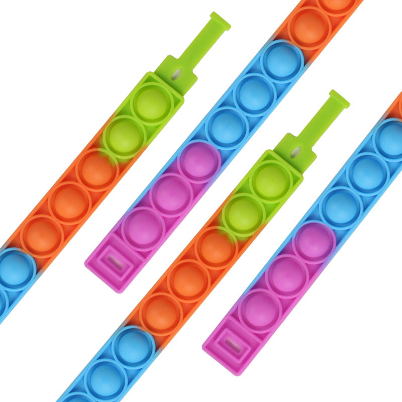 Hade3750980bb4a3b9f803fc83674fc16I - New Fidget Toys For Children Push Bubble Dimple Bracelet Decompression Toy Adults Anti Stress Reliever Sensory Toy Kids Gift