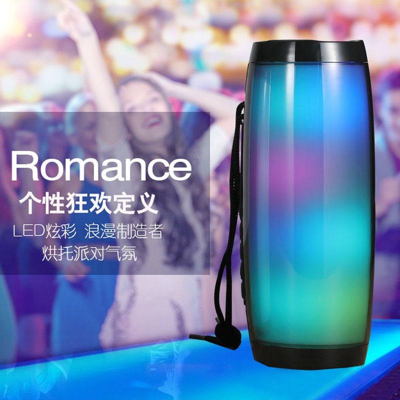 Hadf57b565df14089a651a90561302313P - Wireless Speaker Bluetooth-compatible Speaker Microlab Portable Speaker Powerful High Outdoor Bass TF FM Radio with LED Light