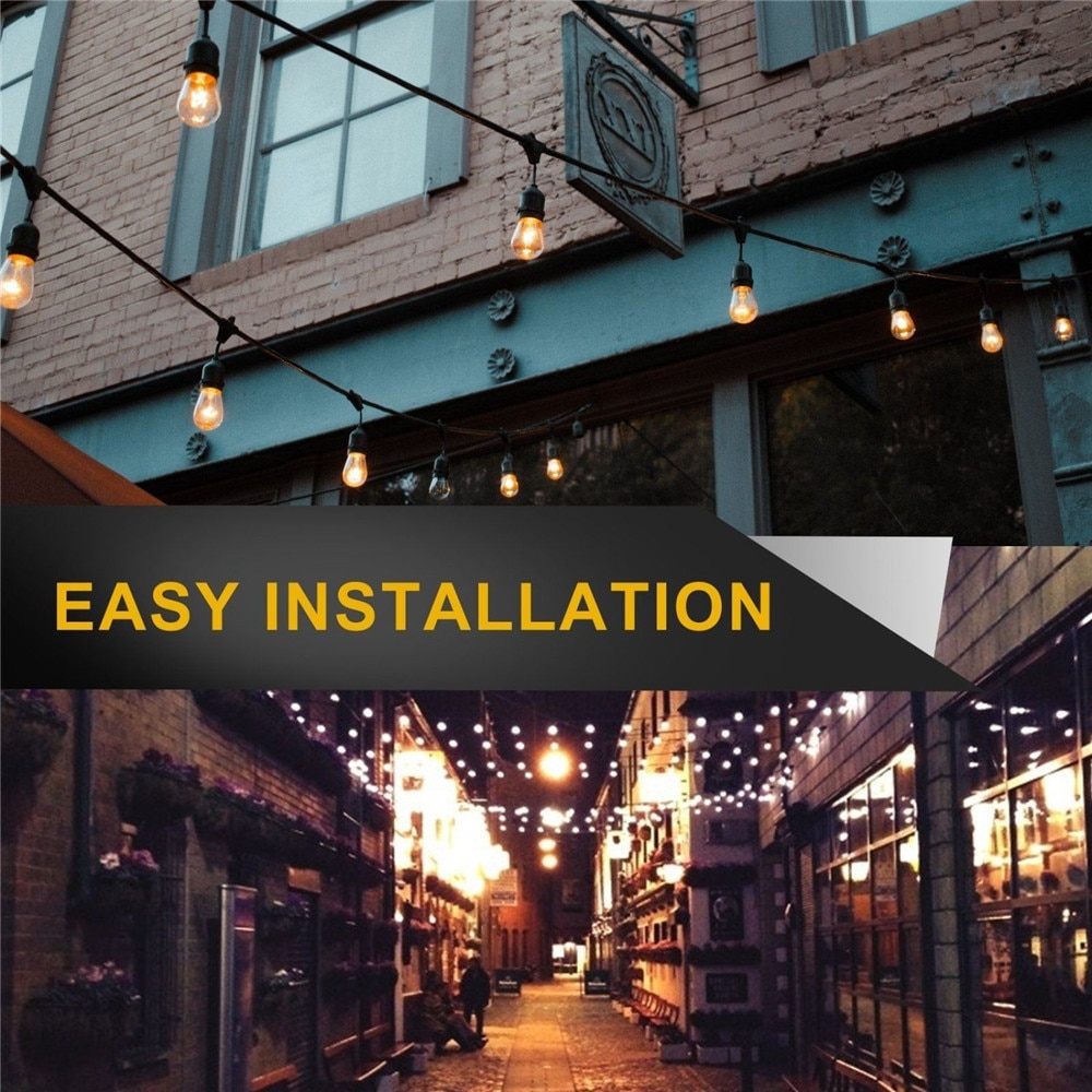 Hb19bedb8002741fd85735a419a1853480 - IP65 Commercial Grade 15M LED Party Lights Outdoor S14 LED String Light For Patio Garden Holiday Wedding Lights