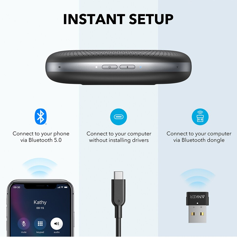 Hb20137812301489cb3c01bcf8ea81eac6 - Anker PowerConf Bluetooth Speakerphone with Bluetooth Dongle, 6 Mics, Enhanced Voice Pickup, 24H Call Time, Bluetooth 5,