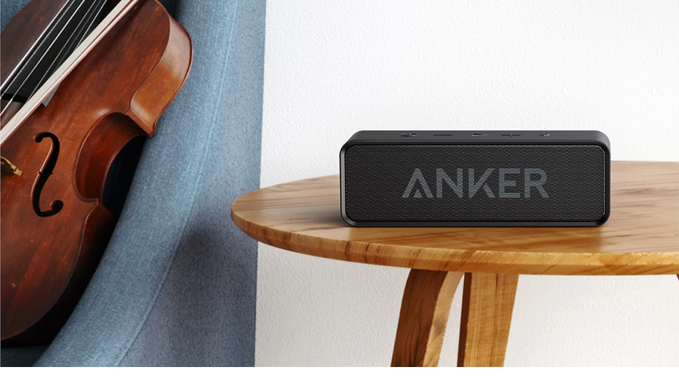 Hb25f944e5e0c4baeaa5ac91d42662271L - Anker Soundcore Portable Wireless Bluetooth Speaker with Dual-Driver Rich Bass 24h Playtime 66 ft Bluetooth Range & Built-in Mic