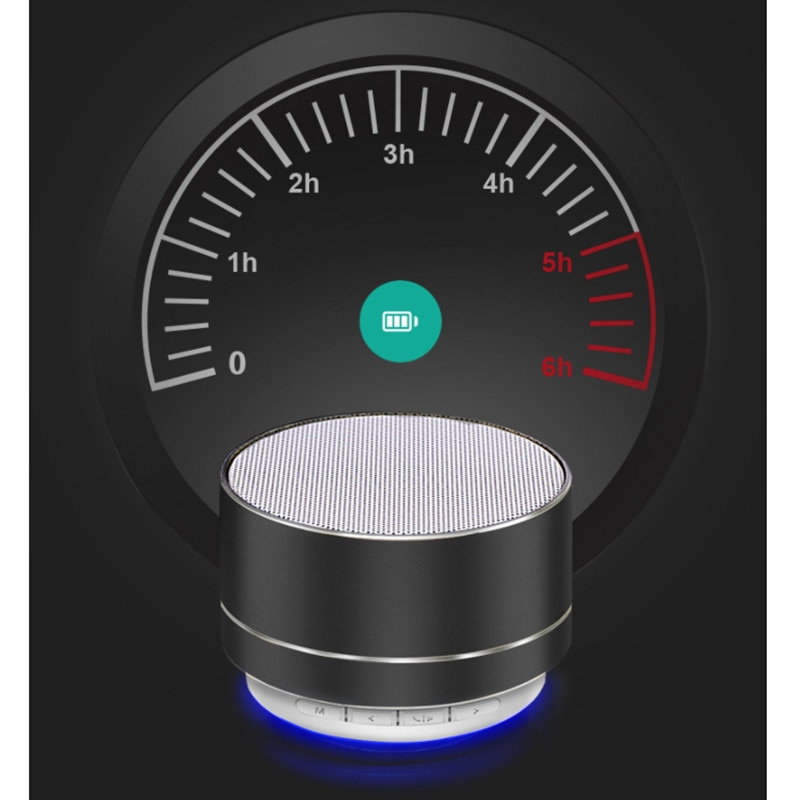 Hb408a14309424ef1ae3790c5d05302c0w - A10 Wireless Bluetooth Audio Small Steel Cannon Subwoofer Mini Portable Gift Card Bluetooth Speaker