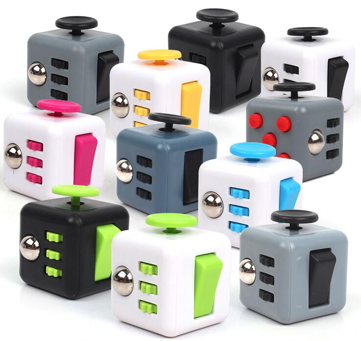 Hb58480d8c93b452d8793d871ade2cc94t - Squeeze Stress Reliever Gifts Cube Relieves Anxiety and Stress Juguet For Adults Children cube Desk Spin Fidget Toys