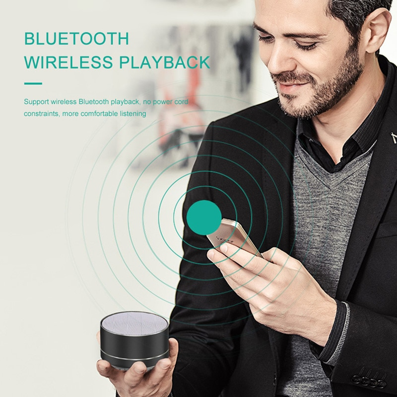 Hb63f5a68d71b4cc28a5d49ece0d5aa8fc - A10 Wireless Bluetooth Audio Small Steel Cannon Subwoofer Mini Portable Gift Card Bluetooth Speaker