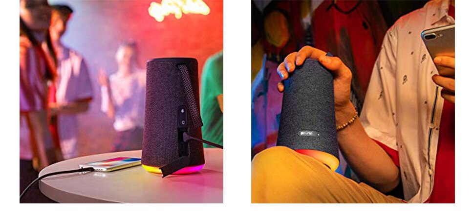Hb83ec94a35e24c438248041f85e59c7f1 - Soundcore Flare Portable Bluetooth Speaker by Anker Huge 360' Sound IPX7 Waterproof Bigger Bass Ambient LED 20 -Hour Playtime