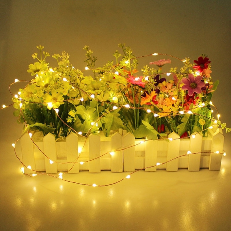 Hbd09b2480a4f467aafc19949302540bak - 2/5/10/20M USB LED String Lights Copper Silver Wire Garland Light Waterproof Fairy Lights For Christmas Wedding Party Decoration