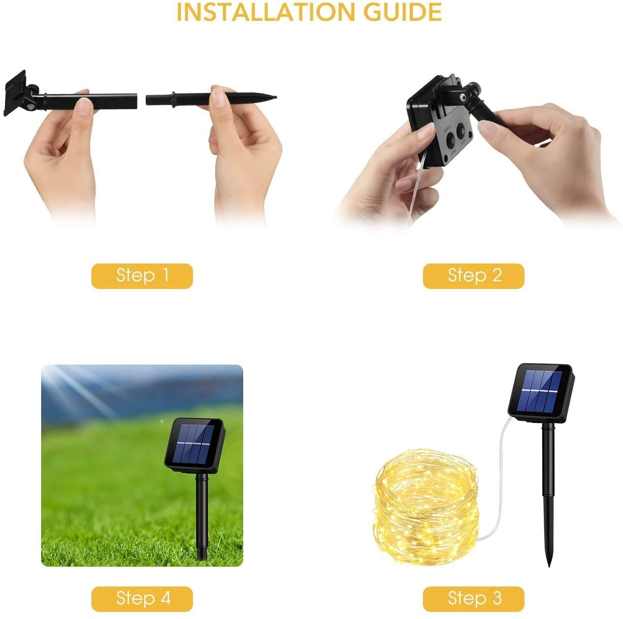 Hbd236ba136eb4296b72478edaed8d45eN - Led Outdoor Solar String Lights Fairy Holiday Christmas For Christmas, Lawn, Garden, Wedding, Party and Holiday(1/2Pack)