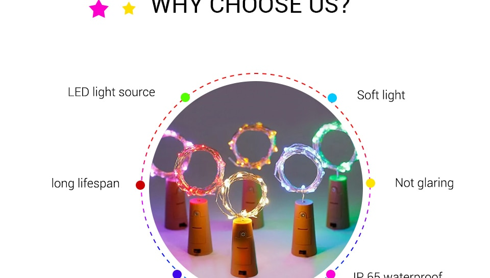 Hbf52d0bee9a747f18af068011a018b88F - 1M 2M Wine Bottle Lights With Cork LED String Light Copper Wire Fairy Garland Lights Christmas Holiday Party Wedding Decoration