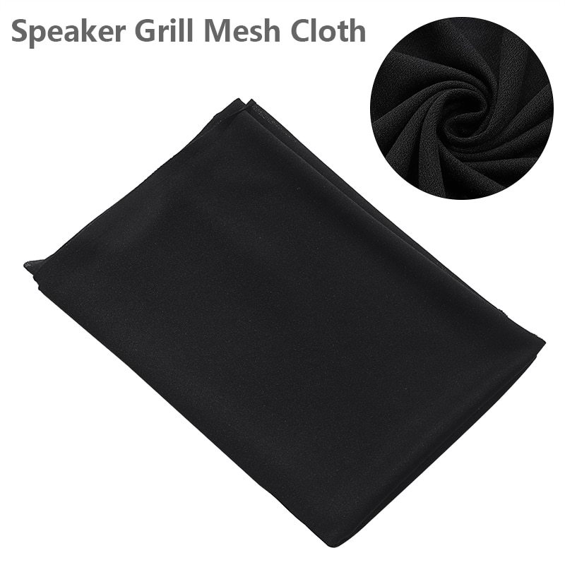 Hc17374940256408db73a261645b8dc19d - Black Speaker Grill Protective Cloth Stereo Gille Fabric Speaker Mesh Cloth Dustproof Size 1.6x0.5m
