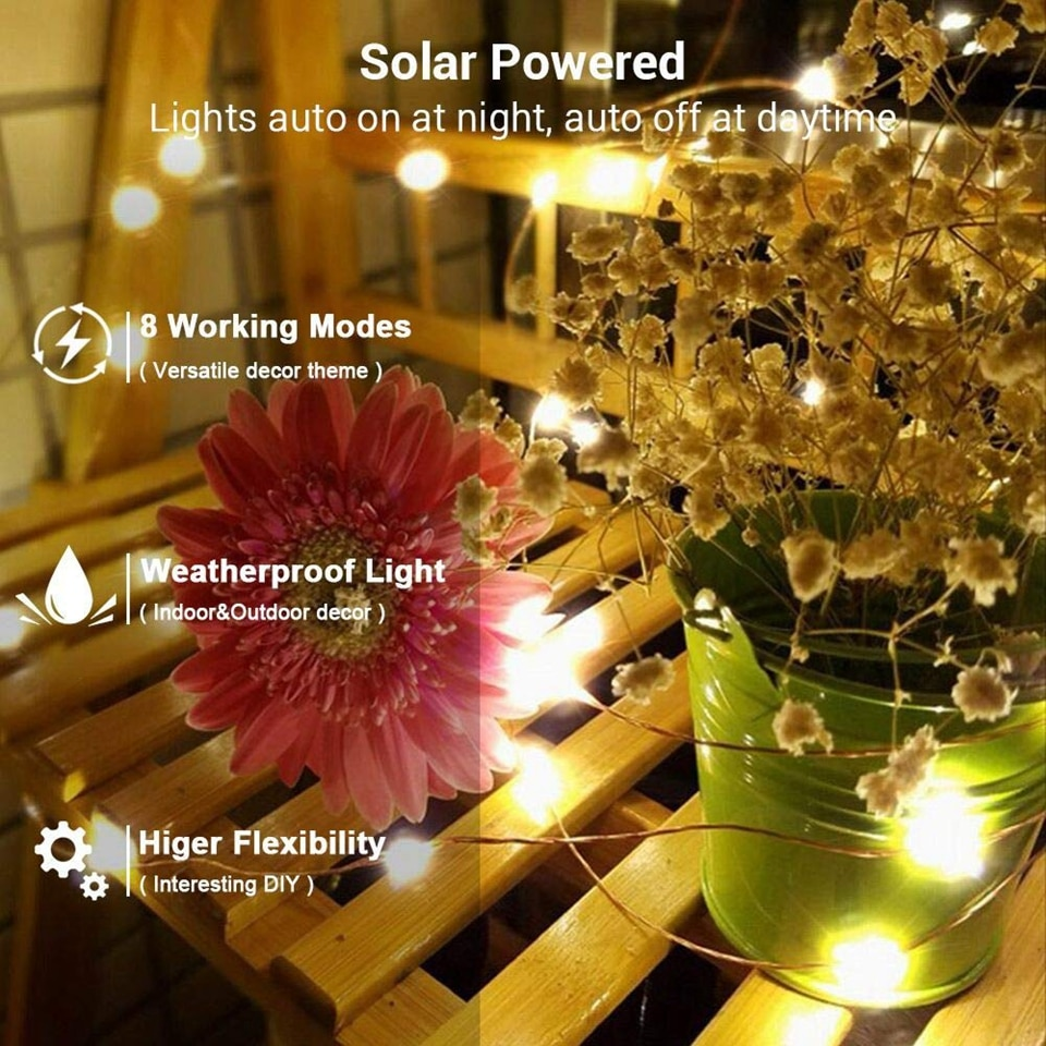 Hc3688480e5af4ada9ce021b6bfcd85971 - 50/100/200/330 LED Solar Light Outdoor Lamp String Lights For Holiday Christmas Party Waterproof Fairy Lights Garden Garland