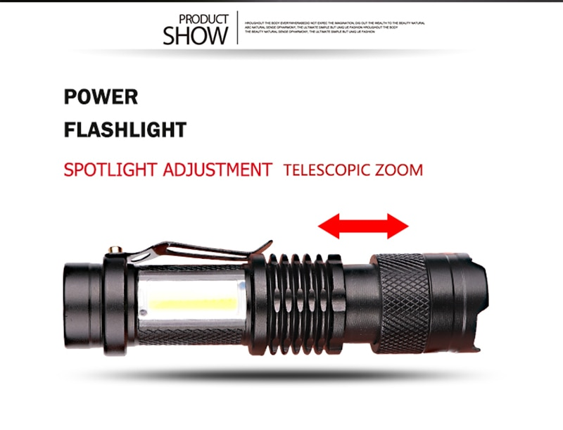 Hc533e4651776425bb6bc54661129434ed - Zoomable Led Flashlight Built-in Battery XP-G Q5 Mini Torch Lamp Adjustable Penlight Waterproof For Outdoor Camping Lantern