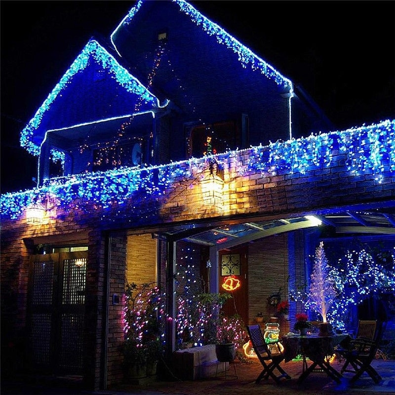Hc7ed00aa0ad74aa0b78e8e60d385793bp - 5M Christmas Garland LED Curtain Icicle String Lights Droop 0.4-0.6m AC 220V Garden Street Outdoor Decorative Holiday Light