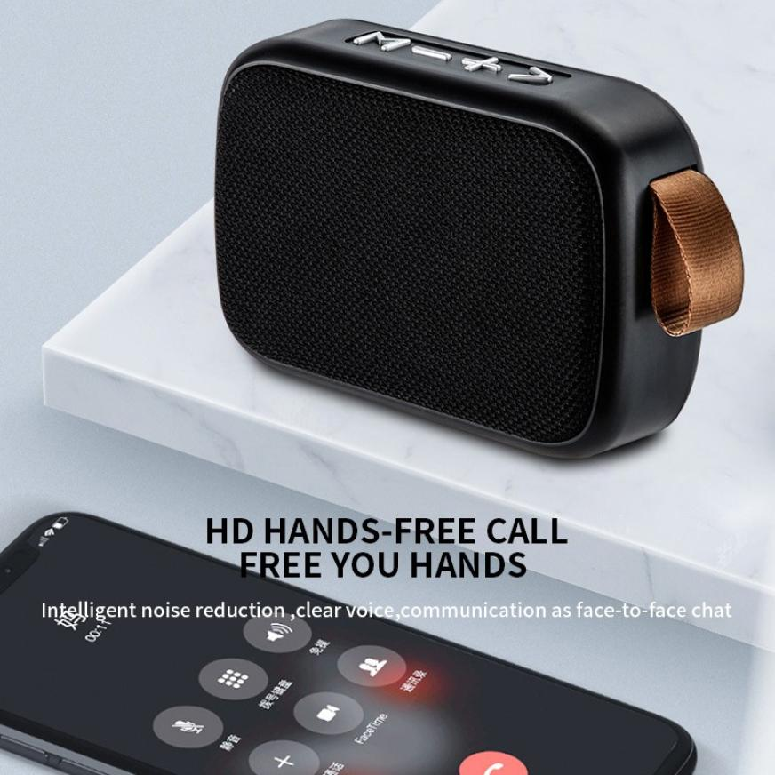 Hc9656119d7d74eff851be084650be18ft - G2 New Wireless Fabric Bluetooth Speaker Small Portable Cannon Mini Voice Broadcast The Card Instert Vehicular Audio System