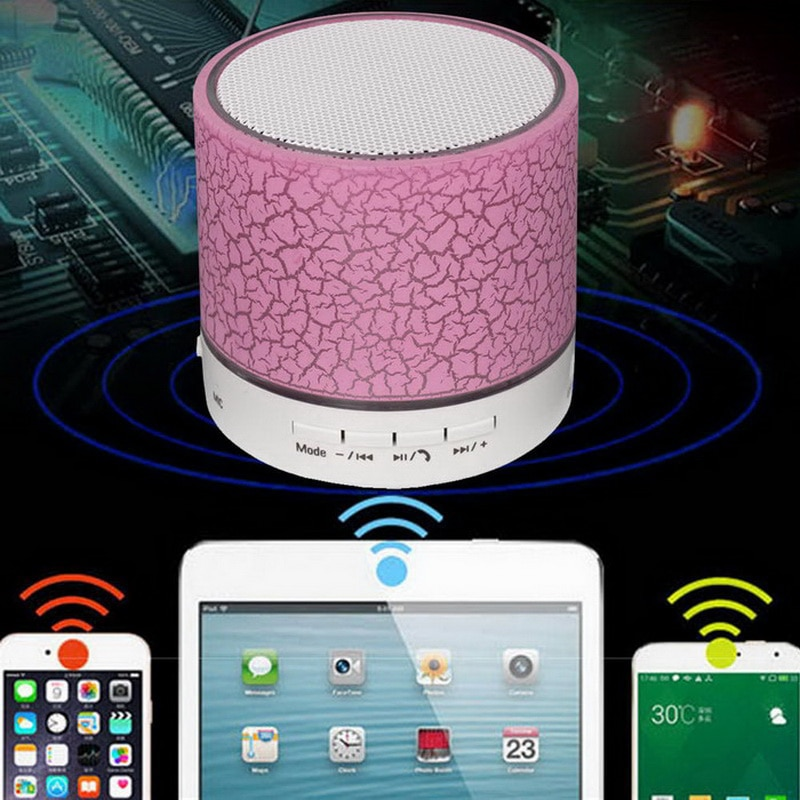 Hca522841e95c47ea8d7dd5cf935c0037J - Mini LED Portable Speakers Wireless Speaker With TF Mic Bluetooth-compatible Music For Phone