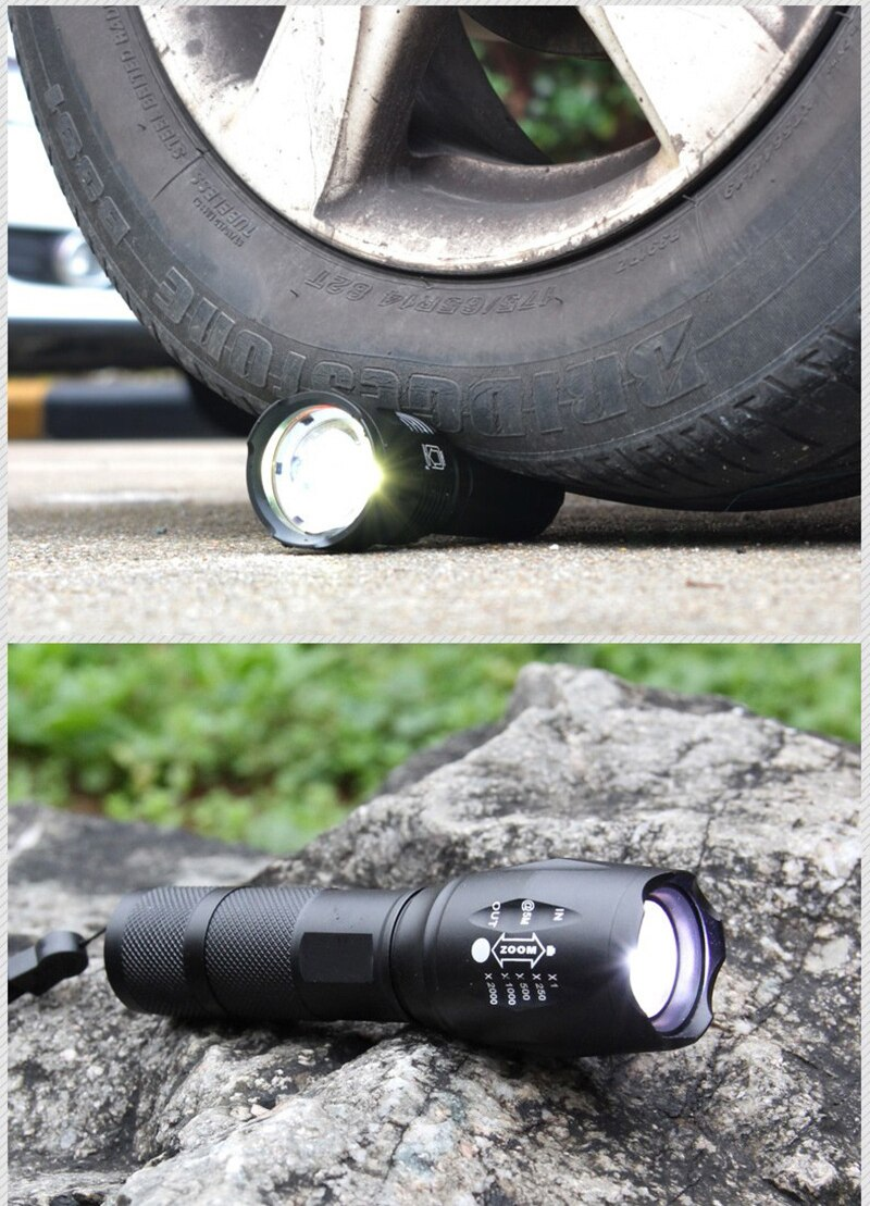 Hcc147aecfd624ac3b209ae43318677625 - Portable Powerful LED Lamp XML-T6 Flashlight Linterna Torch Uses 18650 Chargeable Battery Outdoor Camping Tactics Flash Light