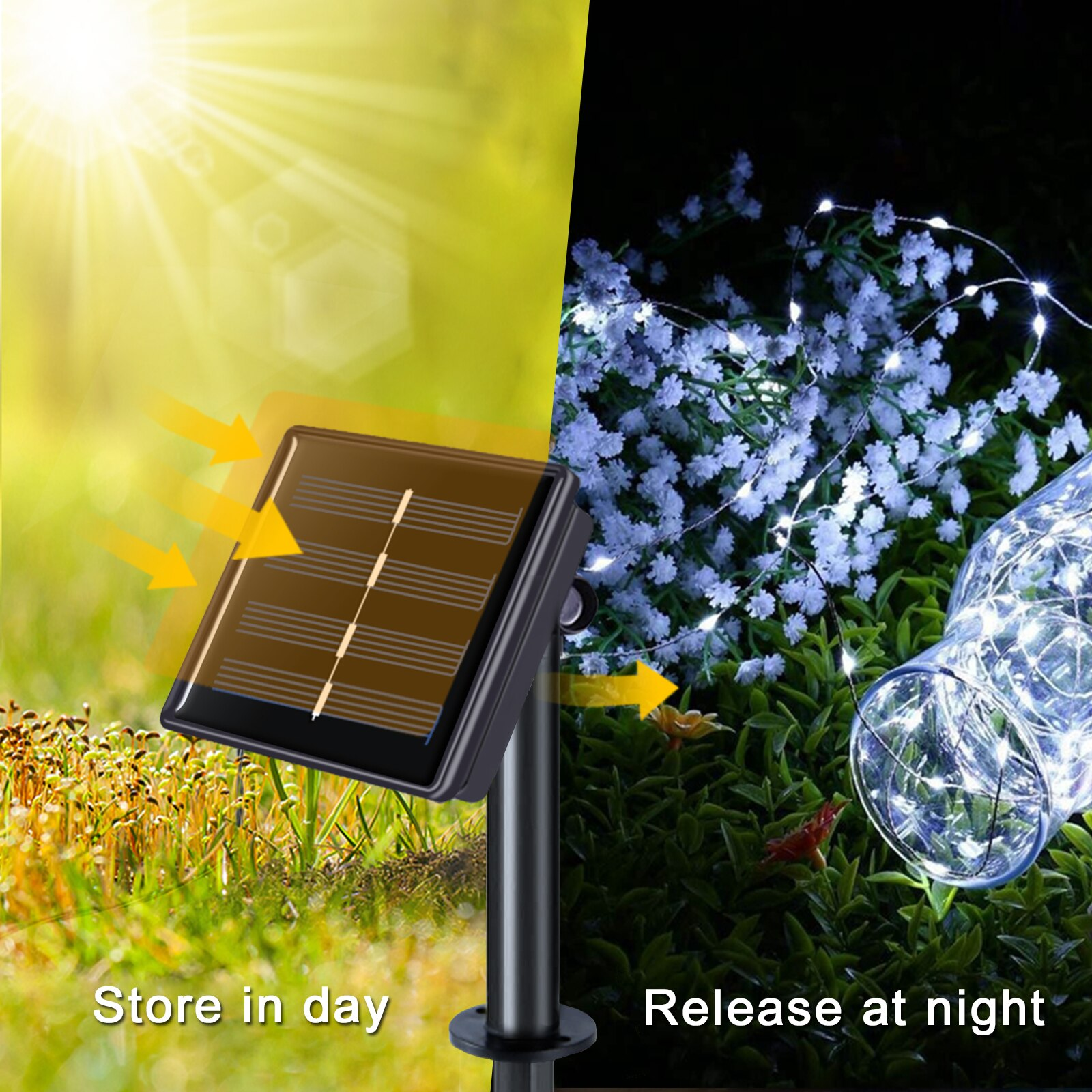Hcc5e50763e614ad7800e3bb2698ec54ch - 50/100/200/330 LED Solar Light Outdoor Lamp String Lights For Holiday Christmas Party Waterproof Fairy Lights Garden Garland