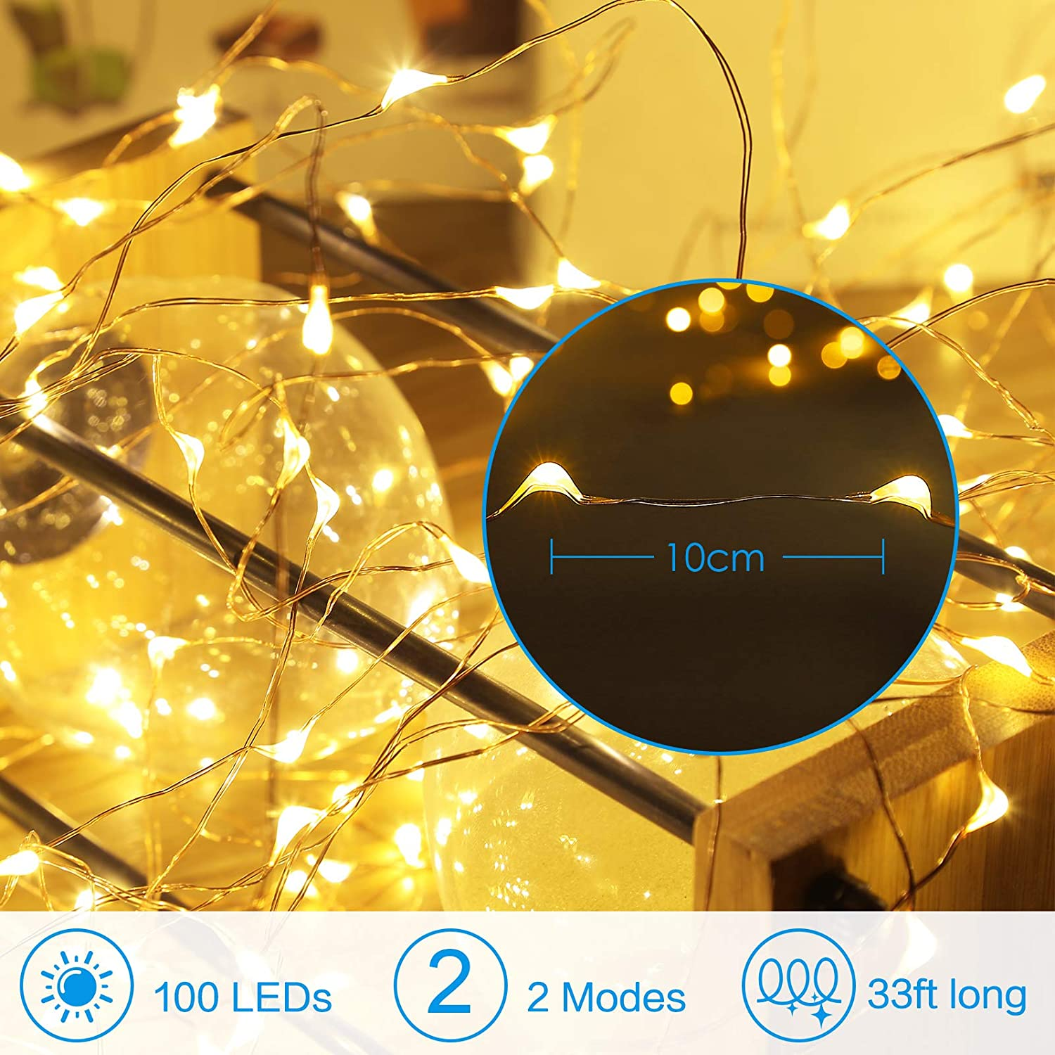 Hd361ae9f70d8422db9d41796cbcba985e - Led Fairy Lights Copper Wire String 1/2/5/10M Holiday Outdoor Lamp Garland Luces For Christmas Tree Wedding Party Decoration