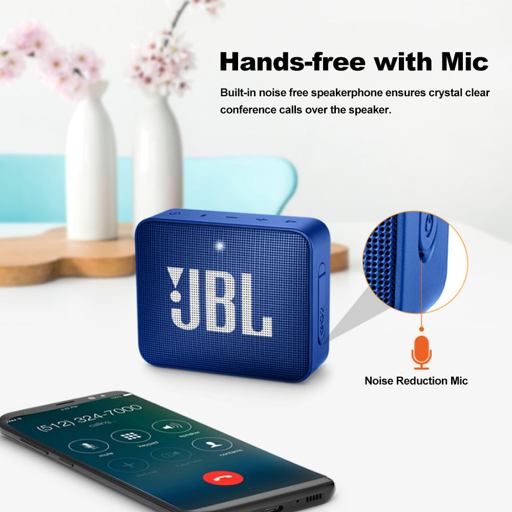 Hd4b917c8c0534b55ab360ca777f3cd09e - Original JBL GO 2 Wireless Bluetooth Speaker Mini IPX7 Waterproof Outdoor Sound Rechargeable Battery With Microphone