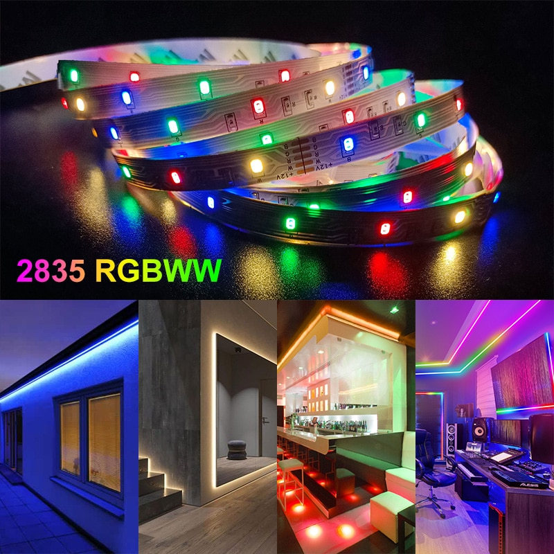 Hd4f973ddc67f4488a4713f2b15a7f93fX - 30M-5M Bluetooth LED Strip Lights RGB Warm White Waterproof Flexible Ribbon 2835 Led Light lamp RGBWW SMD Tape Diode for room