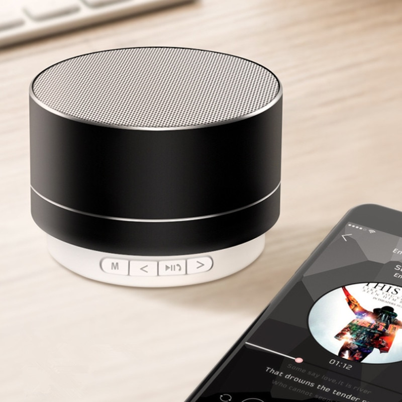 Hd86f70d9dd704d6e93f6d314186fc12ew - A10 Wireless Bluetooth Audio Small Steel Cannon Subwoofer Mini Portable Gift Card Bluetooth Speaker