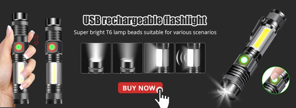 Hd937dc13d7184d2f912db6325c984cdf8 - USB Rechargeable COB Work Light Portable LED Flashlight Adjustable Waterproof Camping Lantern Magnet Design with Power Display