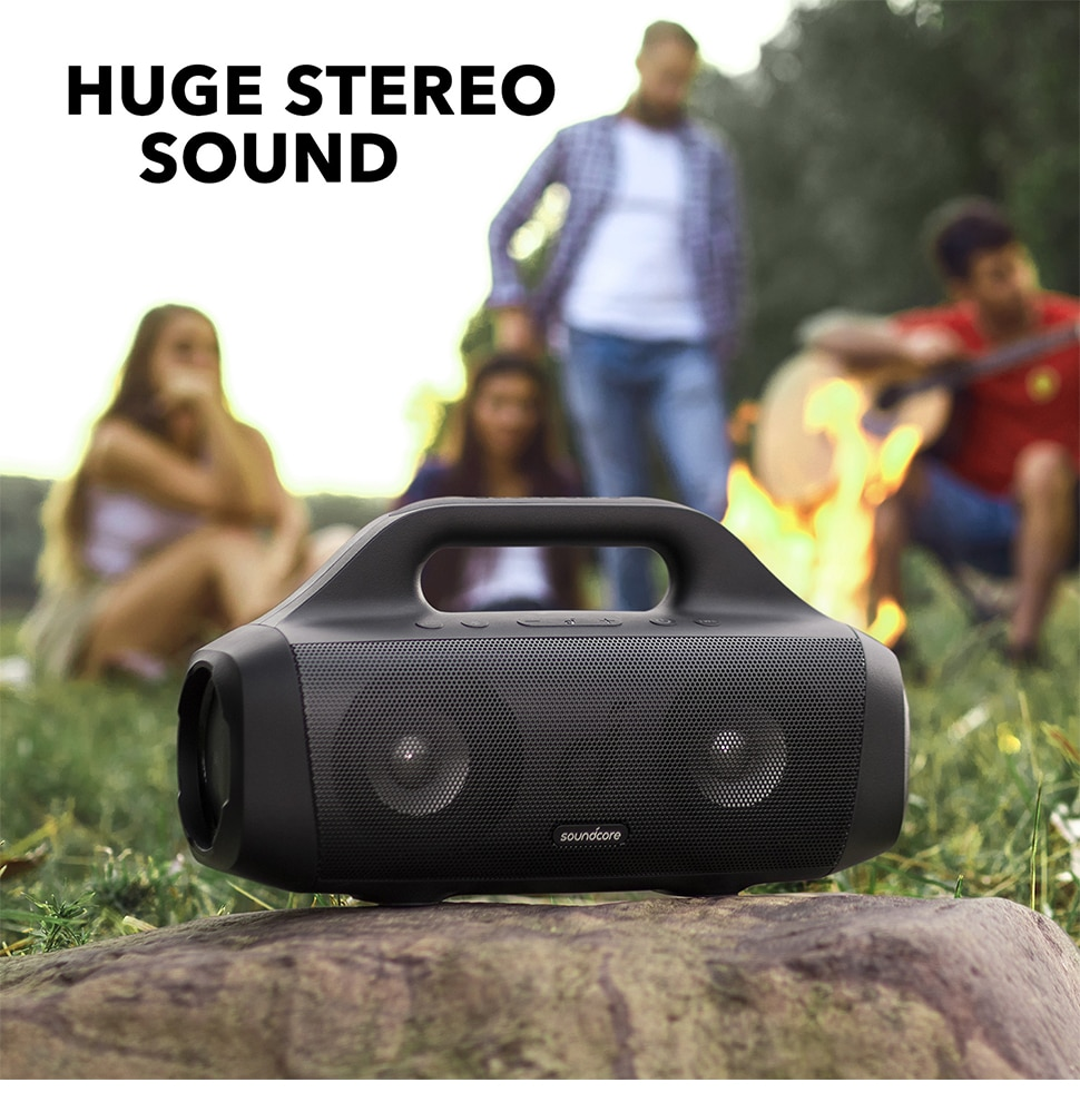 Hdb10a0e497fa4186b2126354829c1971T - Anker Soundcore Motion Boom Outdoor Speaker with Titanium Drivers, BassUp Technology, IPX7 Waterproof, 24H Playtime