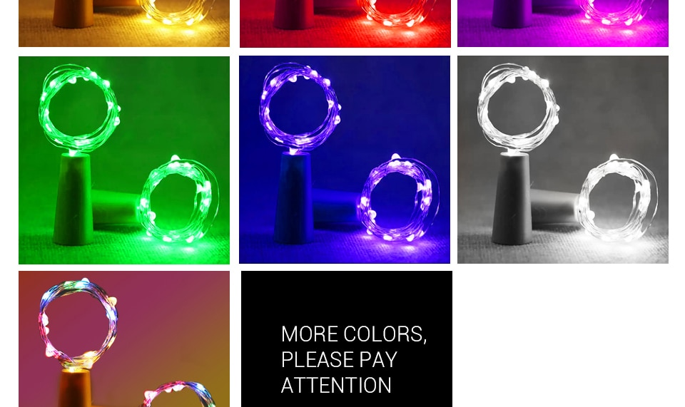 Hdc15dce45d5f44169d081a04e1b3482cU - 1M 2M Wine Bottle Lights With Cork LED String Light Copper Wire Fairy Garland Lights Christmas Holiday Party Wedding Decoration