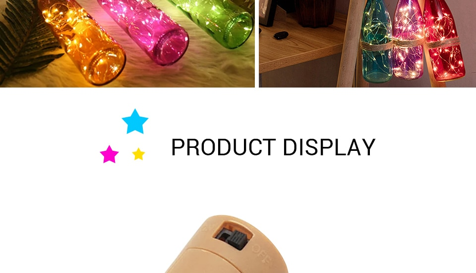 Hdce4a20224164083bd7aae67629383e4A - 1M 2M Wine Bottle Lights With Cork LED String Light Copper Wire Fairy Garland Lights Christmas Holiday Party Wedding Decoration
