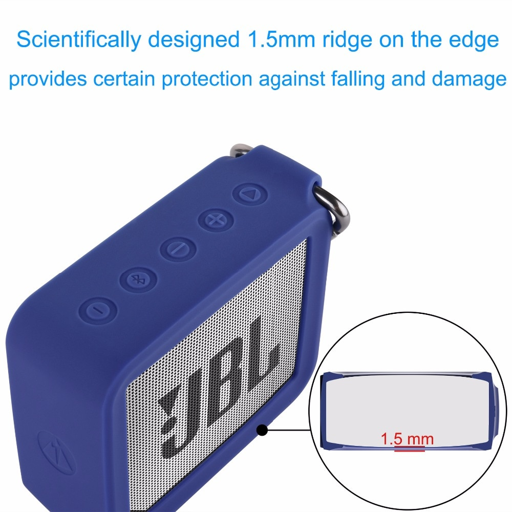 Hddadc378204342428bc63ad0231e60868 - New Portable Silicone Case Protective Travel Case Soft Silica Gel Storage Pouch Audio Case for JBLGO2 GO2 Bluetooth Speakers