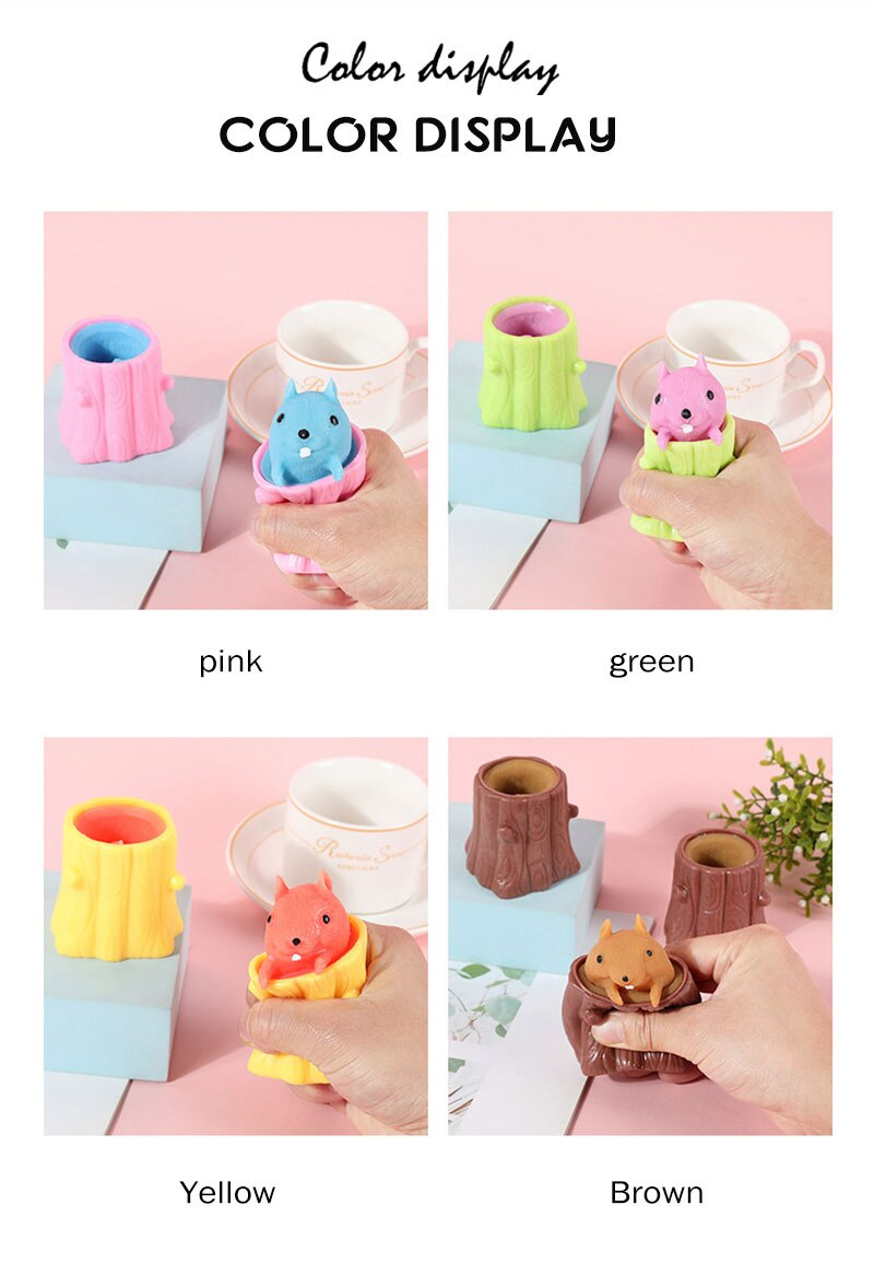 He08cb479ae9a4692bb593d179201cfddD - Cute Cartoon Squirrel Squeeze Anti-Stress Toys For Boy & Girls Fidget Toys Adult Stress Relief Decompression Toy Gift