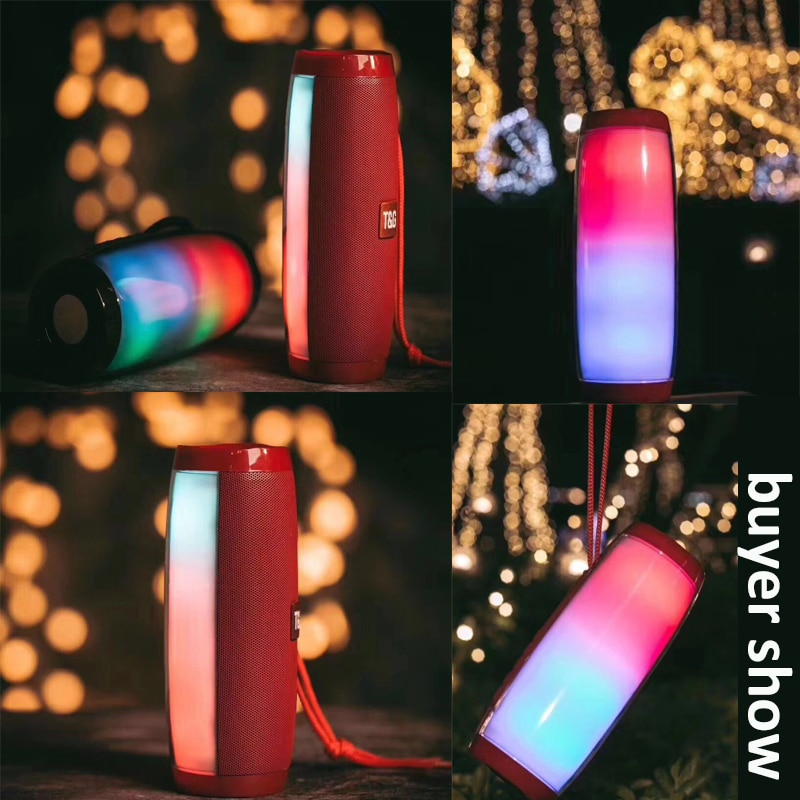 He0d0ca26087348809aa91d91c3718edal - Wireless Speaker Bluetooth-compatible Speaker Microlab Portable Speaker Powerful High Outdoor Bass TF FM Radio with LED Light