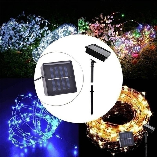 He4d1135587644486a883ba5281e98b72p - Led Outdoor Solar String Lights Fairy Holiday Christmas For Christmas, Lawn, Garden, Wedding, Party and Holiday(1/2Pack)