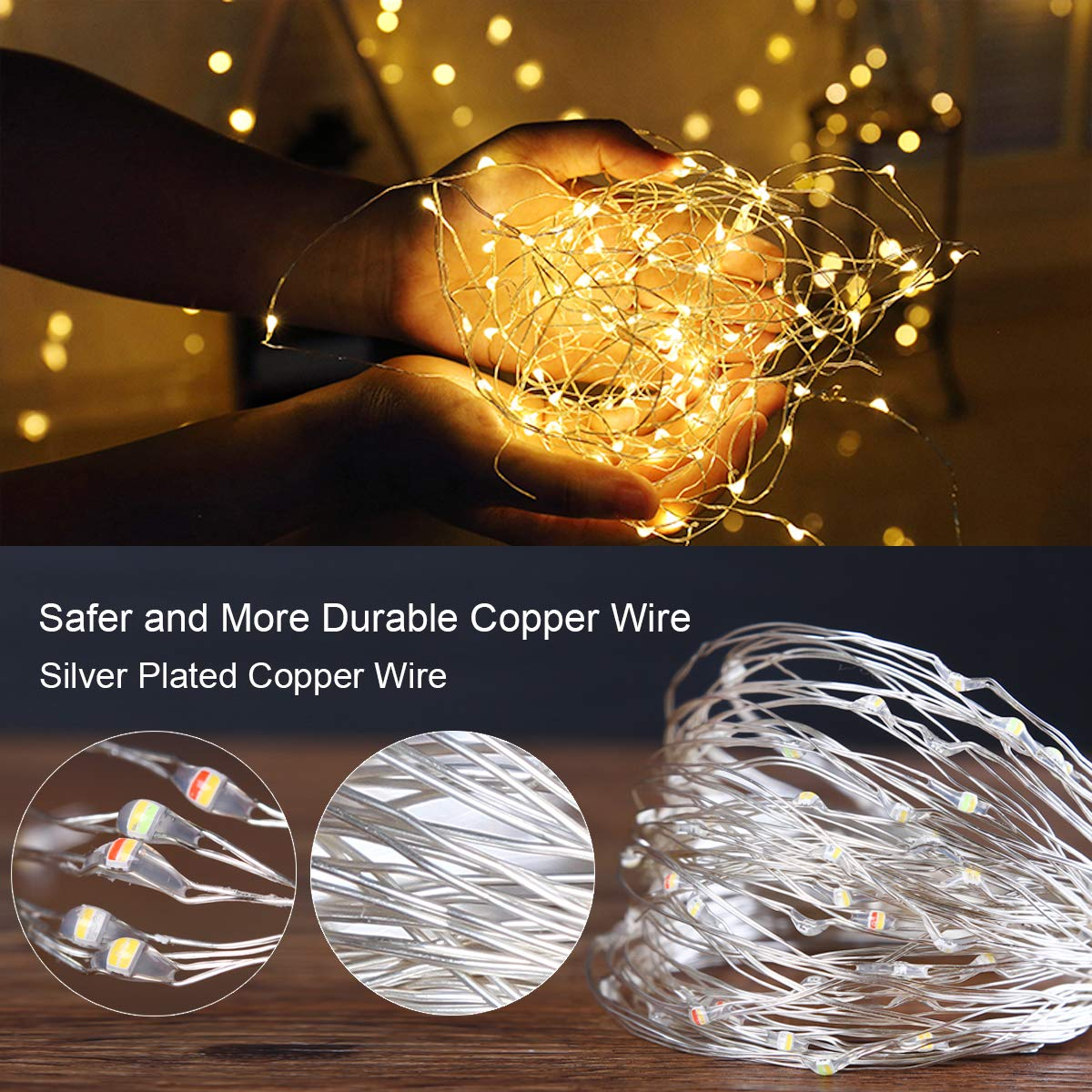 Hed5cd4d6a3a94b028000eca64fcafe16T - Led Fairy Lights Copper Wire String 1/2/5/10M Holiday Outdoor Lamp Garland Luces For Christmas Tree Wedding Party Decoration