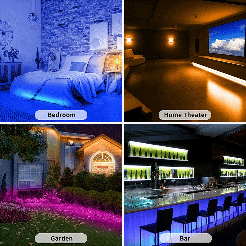 Hf354fab7e6044676bc06f698cb8574d5K - 5M/10M LED Strip RGB USB 5050 SMD LED Lights 0.5/1/2/3M Light Strip With Remote Control Desktop Holiday Wall Room TV BackLight