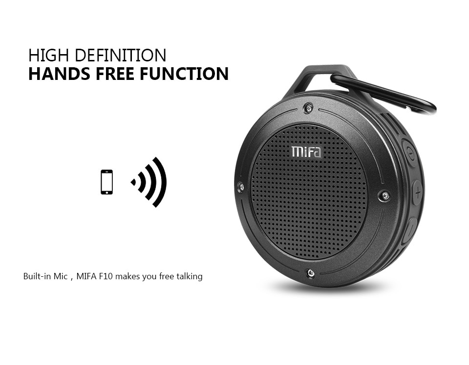 Hf6ed2413adf94de49535d515e092ad21g - MIFA F10 Outdoor Wireless Bluetooth Stereo Portable Speaker Built-in mic Shock Resistance IPX6 Waterproof Speaker with Bass