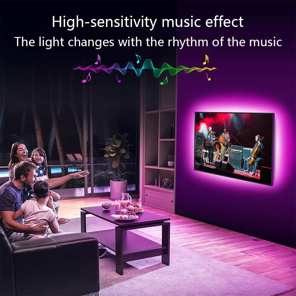 Hfaf87a26d5154a3e9550101fe010ef53i - LED Strip Lights WIFI RGB 5050 Fita 16.4-65.6 Feet For Party Bedroom TV Computer Decoration Luces Supports Alexa Google Control
